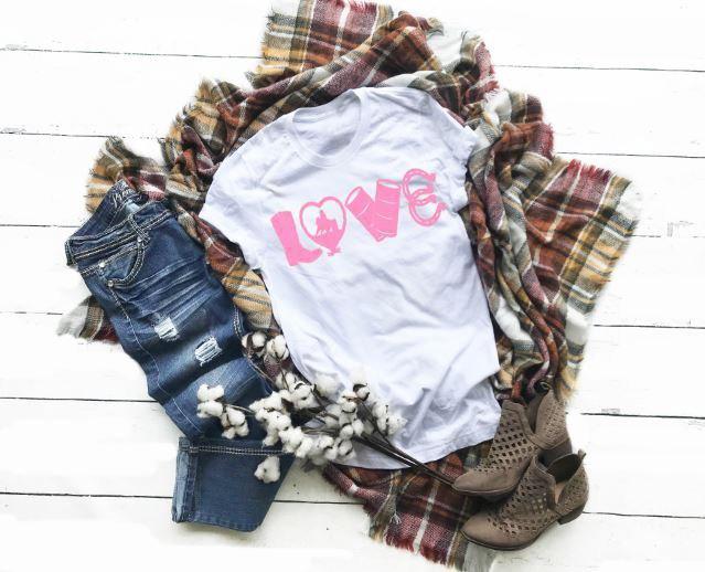 Love Barrel Racing Womens Tee Cowgirl Southern Country Shirt Simple Style Harajuku Aesthetic Tumblr Street Style