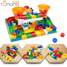 Tumama 52pcs DIY Construction Marble Race Run Maze Balls Track Kids Children Gaming Building Blocks Toys
