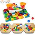 Tumama 52pcs DIY Construction Marble Race Run Maze Balls Track Kids Children Gaming Building Blocks Toys Compatible With Duplo