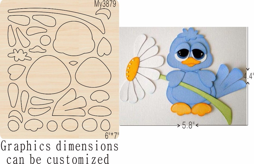 Flowers and birds new wooden mould cutting dies for scrapbooking Thickness 15 8mm