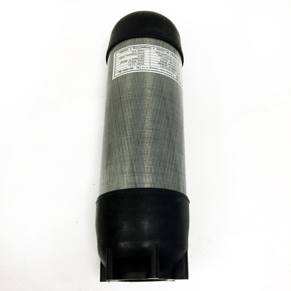 Ac10991 Pcp Rifle Airsoft Condor/scuba Diving/scba Breathing Carbon Cylinder 9l 4500psi 30mpa With Cylinder Cover Sleeve
