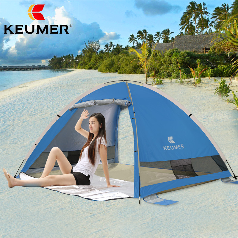 Portable Pop up Beach Sun Shelter Automatic Instant Tent Anti-UV 3-4 Person Canopy Family Tent for Camping,Fishing,Hiking,Picnic цена 2017