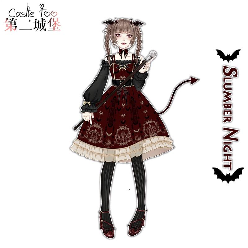 Femme gothique Lolita robe conception originale sommeil nuit ceinture JSK robe fille Lolita 2018 nouveau