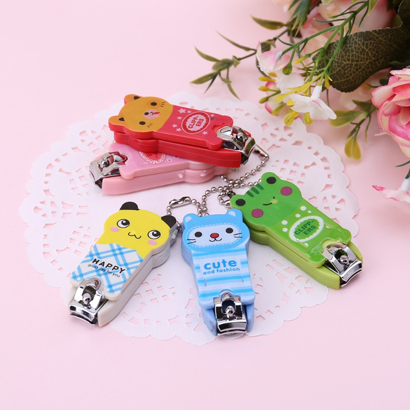 2018 Fashion Stainless Steel Nail Clippers Scissors Cutter Safety Newborn Baby Convenient Party Gift Candy Color Mother & Kids