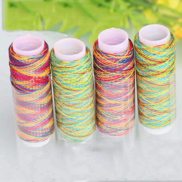5Pcs/pack Rainbow Color Sewing Thread Hand Quilting Embroidery ... : thread for hand quilting - Adamdwight.com