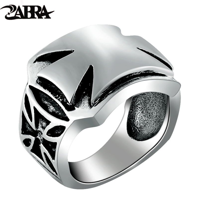 ZABRA Authentic 925 Silver Vintage Cross Ring for Men Women Handmade Real Pure 925 Sterling Silver