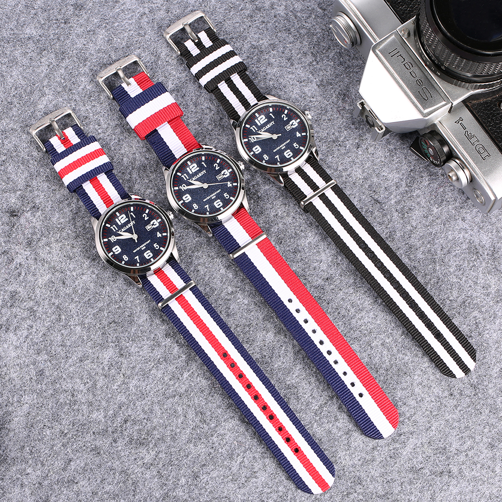 fashion nylon weaved watchband cagarny watches for men drop shipping mens watches 2019 (1)