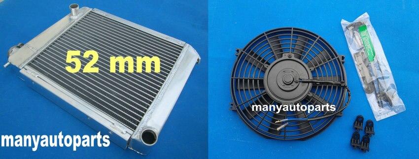 50mm Aluminum Radiator+Shroud+Fan+HOSE For 1959-1997 AUSTIN ROVER MINI COOPER MT