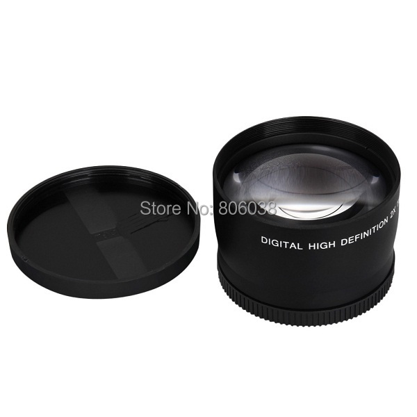 58mm 2.0X Professional Telephoto Lens for Canon 5D/6D/60D/ 350D / 400D / 450D / 500D / 1000D / 550D / 600D / 1100D 18-55MM Lens 8