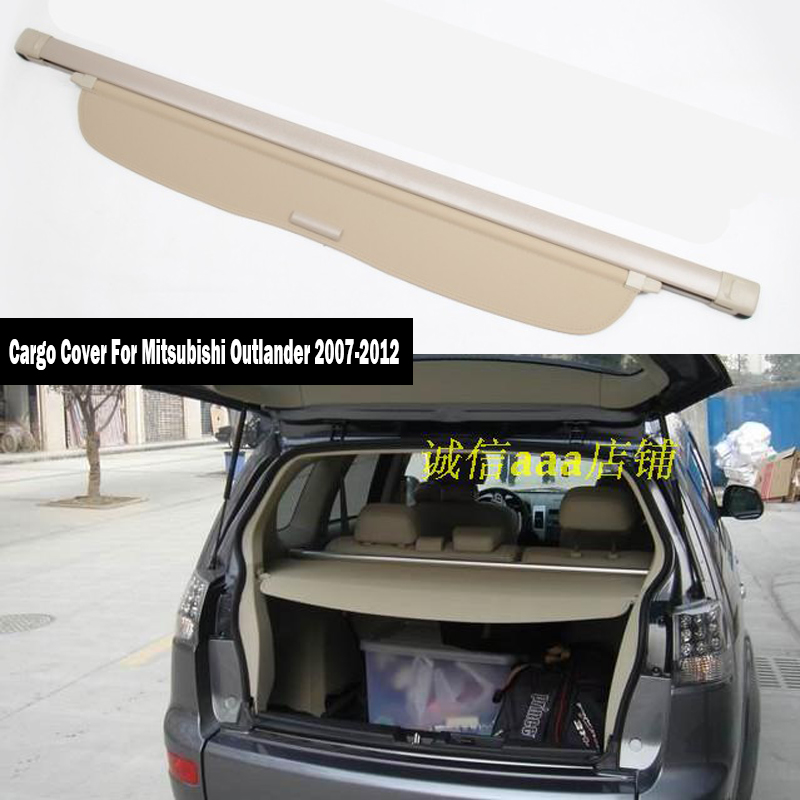 Rear Cargo Cover For Mitsubishi Outlander 2007 2008 2009 2010 2011 2012 Privacy Trunk Screen Security Shield Shade Accessories