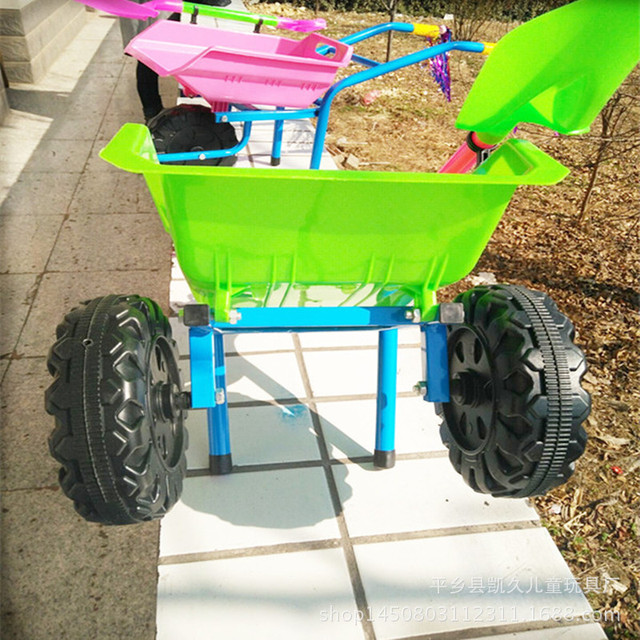A Large Thick Beach Car Toy Baby Stroller For Children With Shovel Dumpers