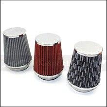 Фильтр Автомобильный Универсальный Filtro Conico 76 мм Качество авто мотоцикл воздухозаборника системы высокое Мощность сетки конус Бесплатная доставк