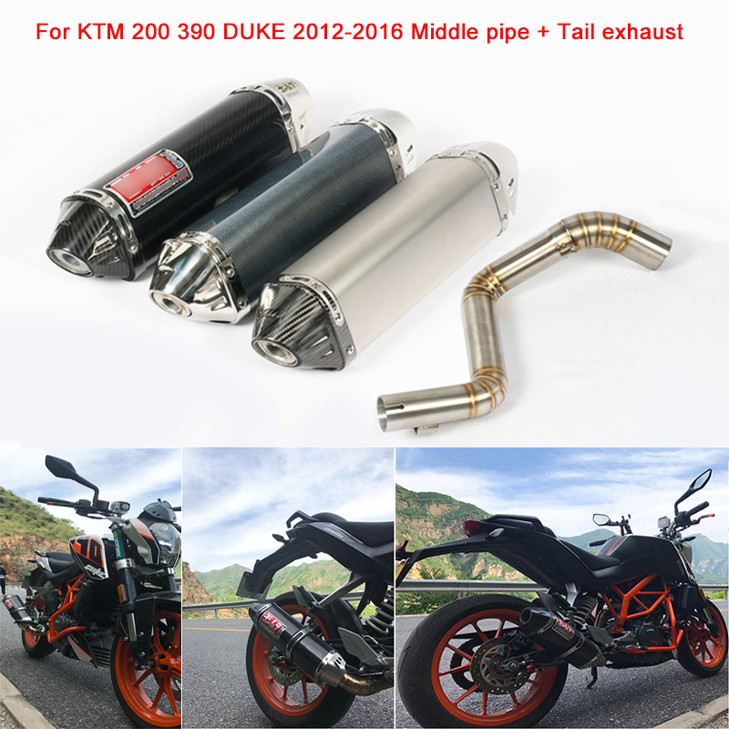 Silp on for KTM 200 390 2012 2013 2014 2015 2016 Motorcycle Stainless Steel Middle Connecting