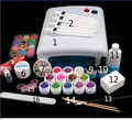 UC-123 Pro Full 36W White Cure Lamp Dryer & 12 Color UV Gel Nail Art Tools Sets Kits nail manicure product