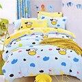 Lençóis de Algodão 100% para crianças do bebê 3 pcs crianças conjunto de cama quilt cover + duas fronhas da cama Estudante
