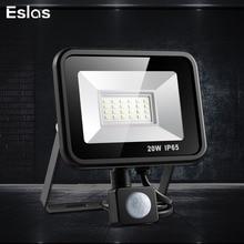 Eslas LED Flood Light Motion Sensor 10W 20W Waterproof AC 220V LED Floodlight Projector Reflector Lamp Outdoor Street Light