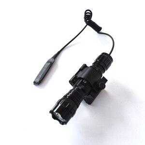 Image 3 - وضع واحد 3800Lm XML T6 LED التكتيكية مضيا 18650 مصباح شعلة linteras للصيد في الهواء الطلق المغناطيسي X بندقية جبل حامل