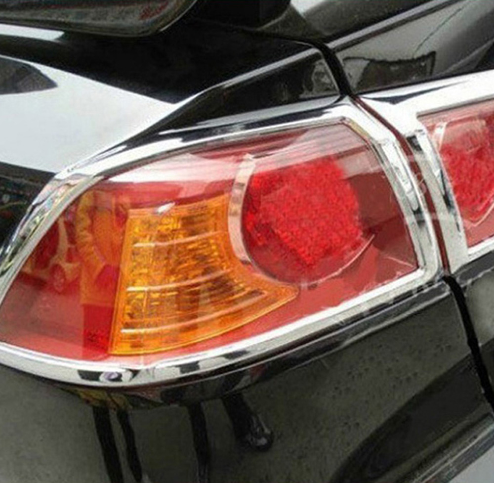For Mitsubishi Lancer Lancer X Lancer Evo 2010-2013 ABS Chrome Taillight Rear Lamp Rear lights Cover Trim Car Accessories 4pcs car bi xenon projector fog lens front bumper lights for mitsubishi lancer ex 10 lancer 08 evo 10 ling yue v312