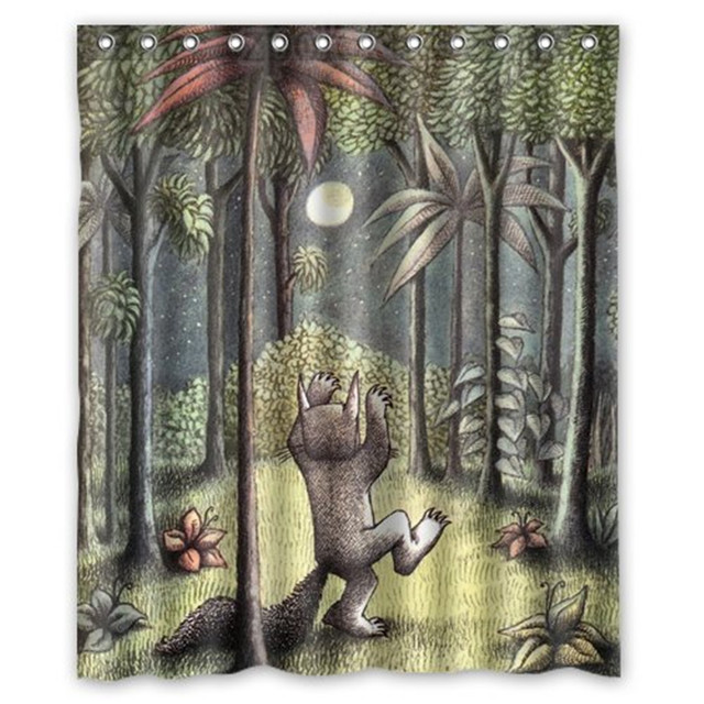 8fcd012d452b1 US $19.0 | Where the Wild Things Are Custom Shower Curtain -in Shower  Curtains from Home & Garden on Aliexpress.com | Alibaba Group