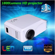 2015 Newest competitive 800*600,1800lumens 1080p support mini portable projector,lcd projector,1080p hd projector