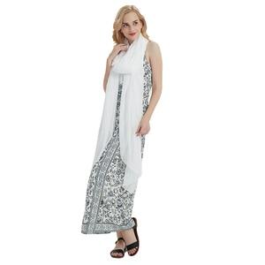 Image 4 - women scarf white shawl chiffon scarves spring autumn large more size ladies tippet beach towel