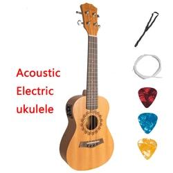 Acoustique Électrique Soprano Concert Ukulélé Ténor 21 23 26 pouce Mini Guitare Acajou 4 Cordes Ukulélé Guitarra Uke Acajou
