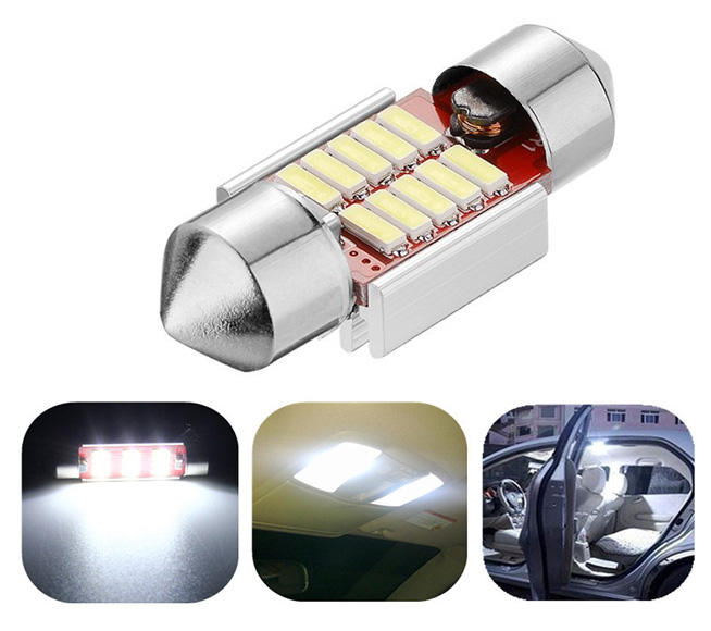 1PCS High Quality Festoon led Car Auto 31mm 10 SMD 4140 Error CANBUS Super Bright Dome Festoon Lamp White Lights Door DC12v high quality 31mm 36mm 39mm 42mm c5w c10w super bright 3030smd car led festoon light canbus error free interior doom lamp bulb