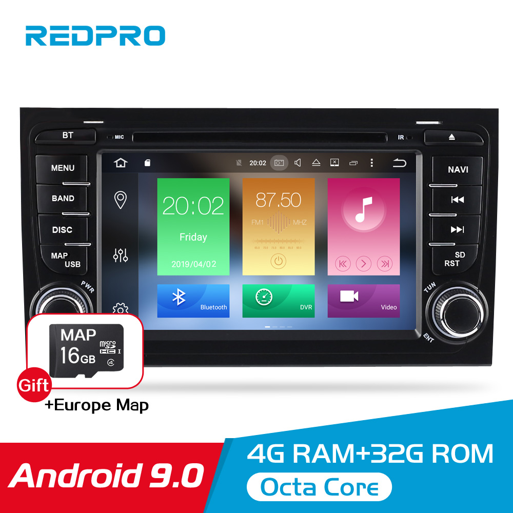 7'' Android 9.0 car DVD Radio Stereo For Audi A4 S4 2002 2003 2004 2005 2006 2007 2008 GPS Navigation WIFI Video Player Headunit-in Car Multimedia Player from Automobiles & Motorcycles