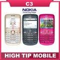 Телефон nokia C3, бренд разблокированный / C3-00 сотовый wi-fi бар отремонтированный