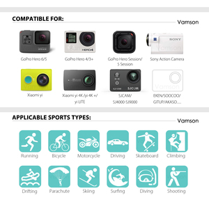 Image 2 - Vamson for GoPro accessories 42 in 1 Set Family Kit for SJ4000 package for GoPro HD Hero 7 6 5 4 for xiaomi