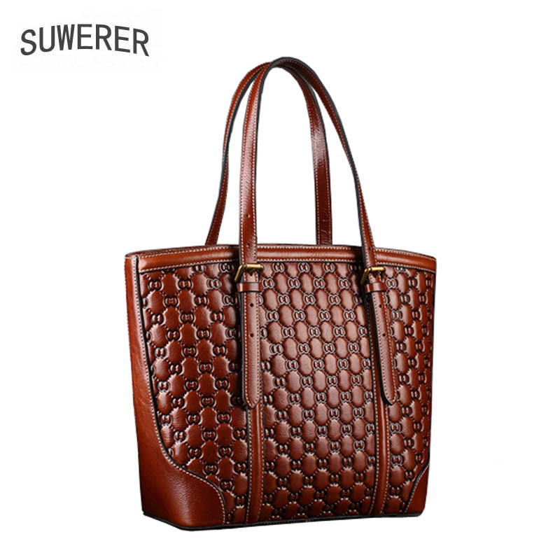 2019 new womens handbag Hand embossed leather ladies handbag Brand-name large-capacity pure leather tote bag2019 new womens handbag Hand embossed leather ladies handbag Brand-name large-capacity pure leather tote bag