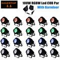 Factory Price 20 Unit Led Cob Par Light RGBW 100W Tyshine Led COB 4 Color Long Working Life White Case Optional Light Beam Cover