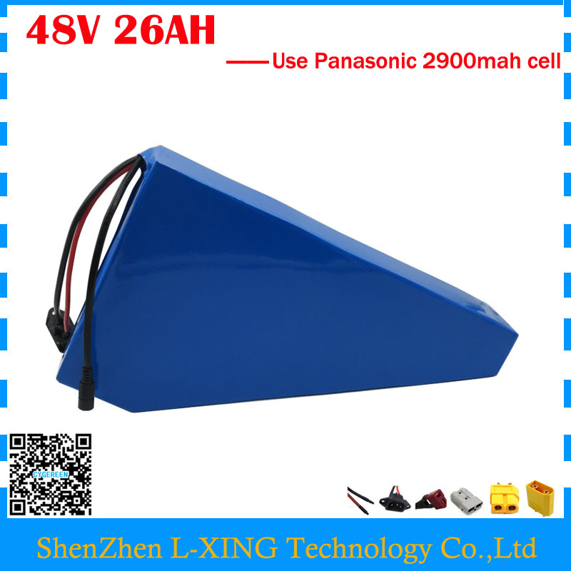 EU no tax 48V 26AH triangle battery 48V 26.1AH Li-ion battery with Free bag 48V Ebike battery use Panasonic 2900mah cell 50A BMS free customs taxes super power 1000w 48v li ion battery pack with 30a bms 48v 15ah lithium battery pack for panasonic cell