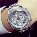 Ladies Luxury Fashion steel Watches men Crystal Rhinestone Reloj woman Watch Sparkling Shining Large Dial Watch Brand watches