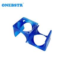2Pcs lot E 3D V6 fan cover 3D printer DIY injection molding cooling POM plastic blue