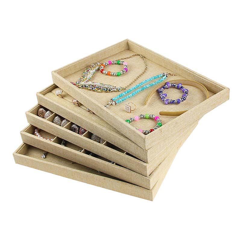 Wholesale Jewelry Display Tray Jewelry Organizer Case Jewellery Box Holder Stand Jewlery Box Bracelet Display Trays Ring Display