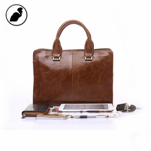 ETONWEAG New 2017 men famous brands cow leather luxury vintage laptop handbags brown zipper casual multi-functional briefcases