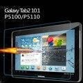 2 unids 9 h vidrio templado film protector de pantalla para samsung galaxy tab 2 10.1 P5100 P5110 P5113 + Alcohol + Paño de Polvo Absorbente