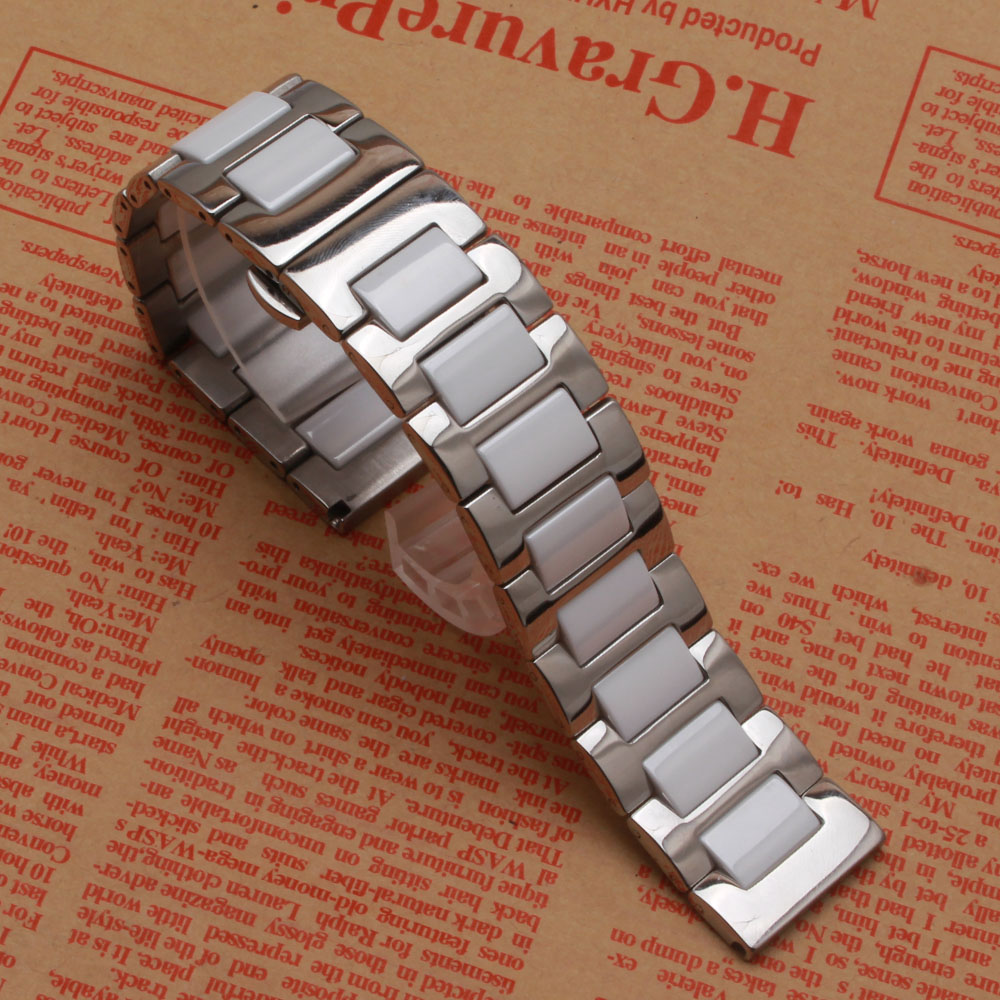 20mm 22mm Width solid Link Bracelet strap Watchbands wrist Band Solid stainless steel and Ceramic durable for Samsung Gear S2 S3 технический фен bosch phg 500 2 060329a008