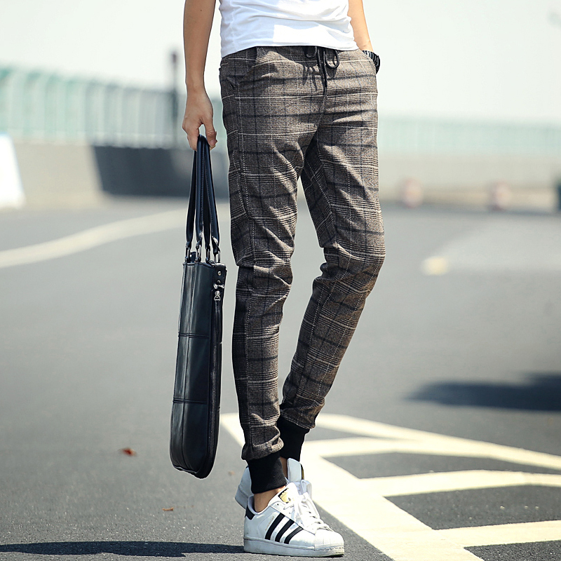 Popular Mens Plaid Cheap Pants Lots