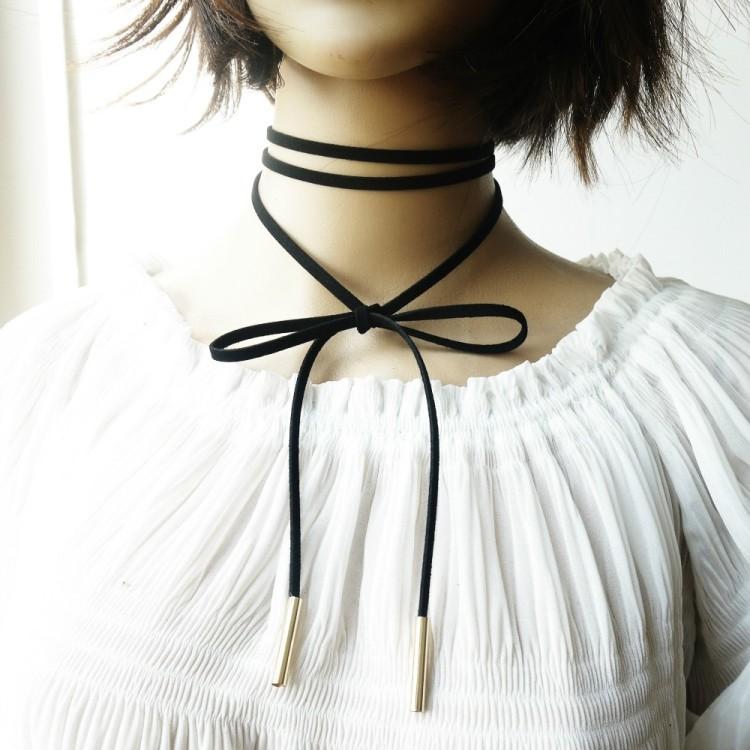Variety Set Black Velvet Choker Necklace