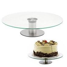 360 Revolving-Kuchen Plattenspieler Stand Platter Maus Über Das Bild Um Cupcake Dessert Hochzeit Geburtstag Party Display 30 cm