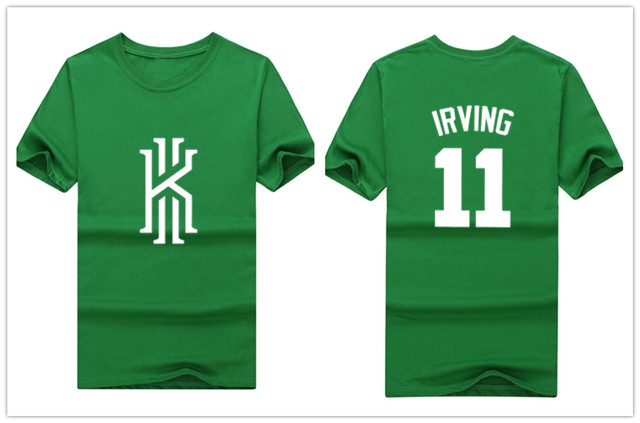 new concept ec072 b0649 2018 summer Kyrie Irving 11 boston t shirt 100% cotton ...
