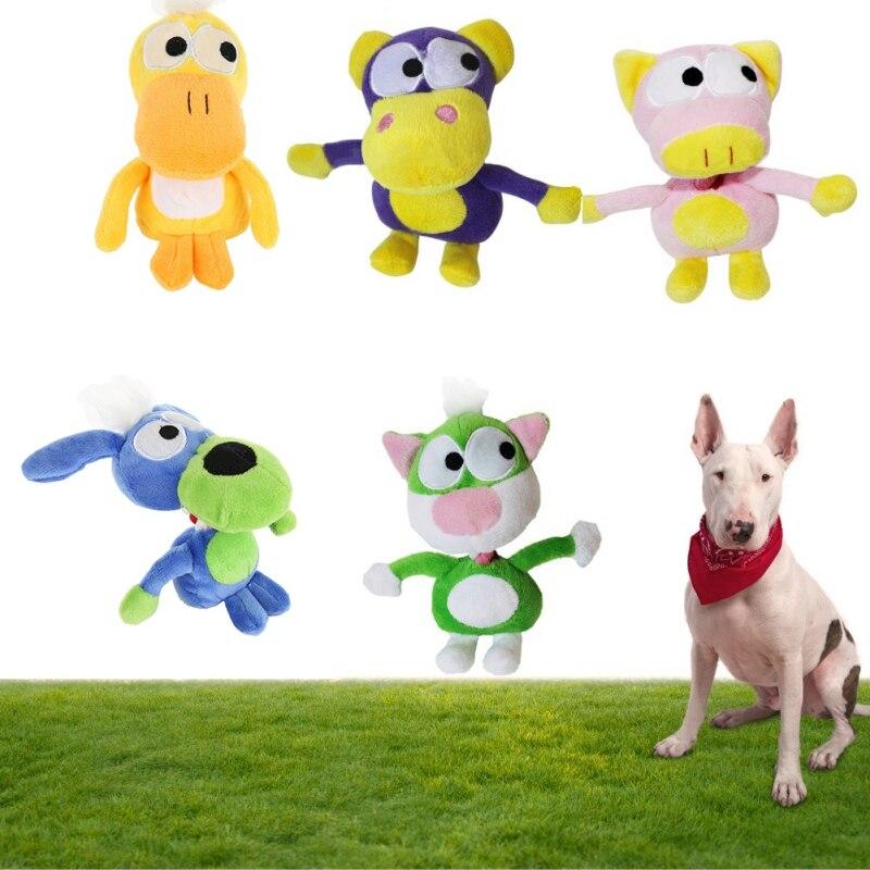 13*18 см Pet Жевать звук игрушки стоя животного игрушка собака с веревкой для интерактивной игры Best для щенки