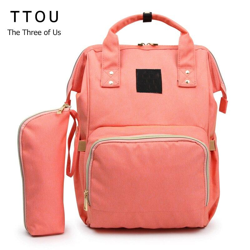 TTOU Mummy Maternity Diaper Bag Mom Backpack 2pcs/set Large Capacity Baby Bag Designer Nursing Bag For Baby Care kalidi 2pcs set backpack