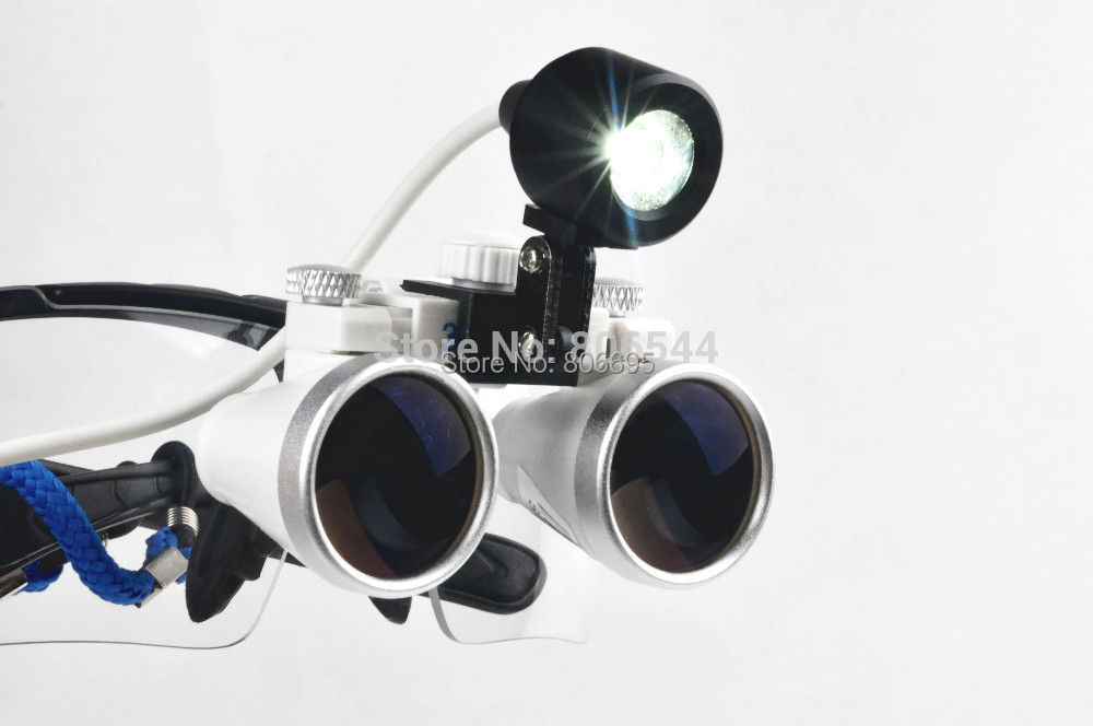 Brand New Portable Dental Loupes Surgical Binocular Glasses 3.5 x 420mm + LED Head Light Black R+S xm portable dental binocular loupes 3 5x