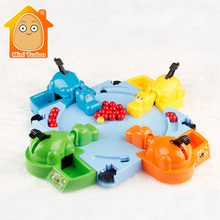 MiniTudou Parent-child Interaction Toys Feeding Hippo Swallow Beads Table Game Hungry Hippo Child Educational Toys Gift For Kids