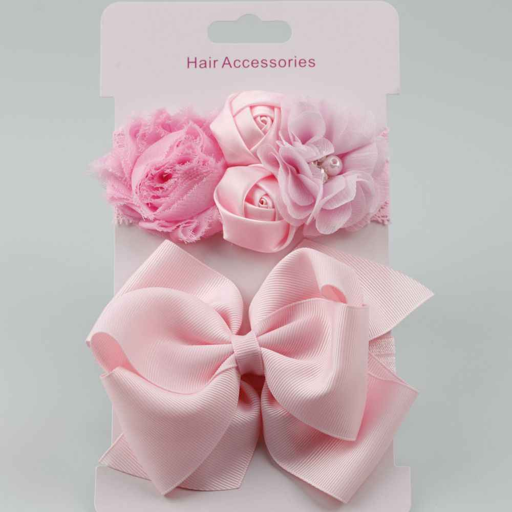 on sale 10pcs 10018 New Rose Lace hair band elastic double hair Bow