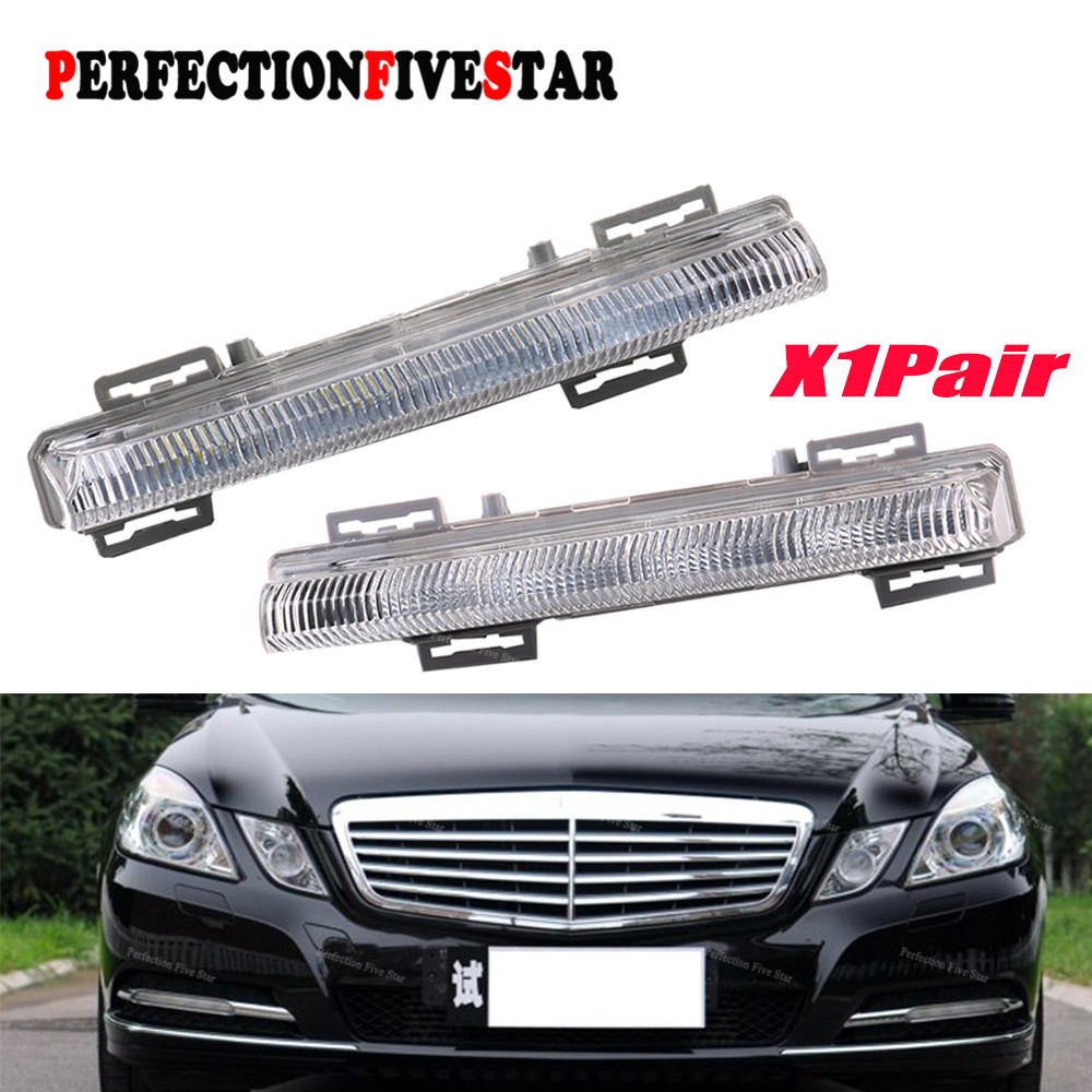 цена на 2049068900 2049069000 For Mercedes-Benz W204 S204 C350 W212 R172 2012 2013 Pair Front Right DRL Daytime Running Lamp Fog Light
