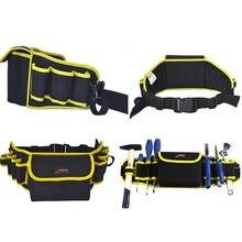 Cintura bolsa de herramientas lienzo 570 160mm electricista bolsas  portátiles 600D Oxford impermeable espesar a2402ae8513e